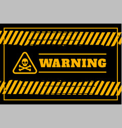 dirty warning background in yellow and black vector image