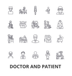 Doctor and patient cabinet medical hospital vector
