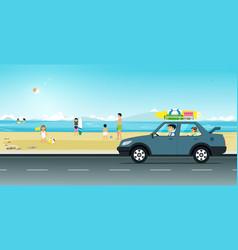Drive the beach vector