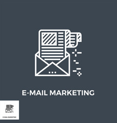 e-mail marketing line icon vector image