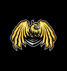eagle esports logo design eagle team mascot vector image