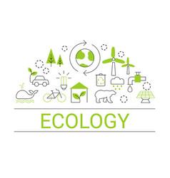 Ecology concept ecology concept vector