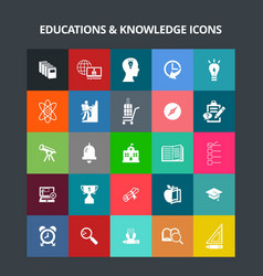 Education and knowledge icons vector