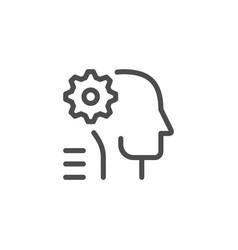 engineer line icon vector image
