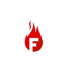 fire letter f logo icon design vector image