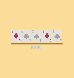 flat icon on stylish background pair cards vector image
