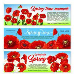 floral banners for spring holiday greetings vector image