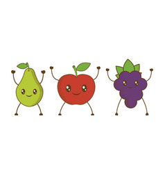 fruits cartoon icon vector image