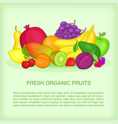 Fruits concept organic cartoon style vector