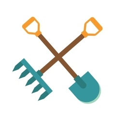 Gardening tools icon flat graphic design farm vector image