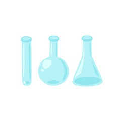 Glass flask and tube vertor vector