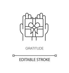 Gratitude pixel perfect linear icon vector
