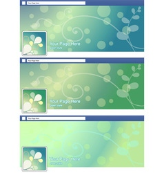 Green nature abstract face book page cover banner vector