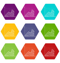 Growth chart infographics hand drawn style vector