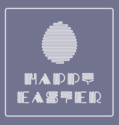 happy easter background with striped vector image