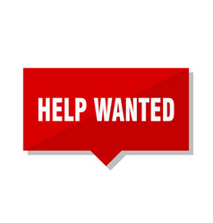 Help wanted red tag vector