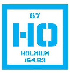 Holmium chemical element vector