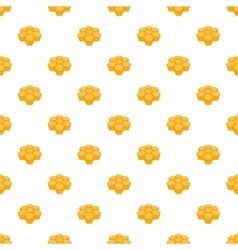 Honeycomb pattern cartoon style vector image
