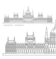 hungarian parliament building symbol of vector image