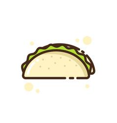 Icon food taco vector