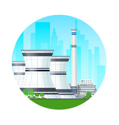 icon nuclear power plant vector image