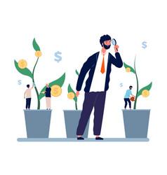 investment management businessman investor vector image