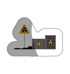 Isolated barrel biohazard and pollution design vector