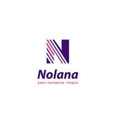 Letter N logo Template for your company vector