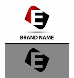 Logo e letter vector