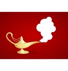 magic lamp vector image