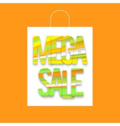 Mega sale package vector