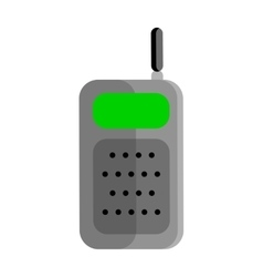 Mobile Radio in Flat Design vector image