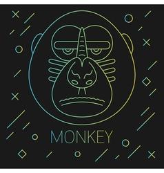 Monkey Lines Green vector