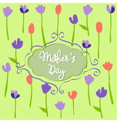 Mothers Day floral pattern with tulips vector