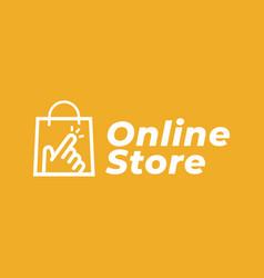 online shop logo for business vector image