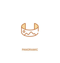 Panoramic concept 2 colored icon simple line vector