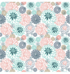 Pattern with many flowers vector
