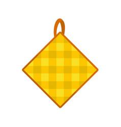 Potholder icon flat style vector