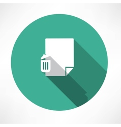 Recycle and paper icon vector