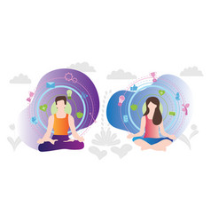 relaxation yoga techniques vector image