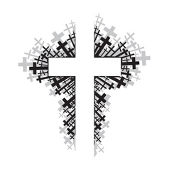 Religious cross vector