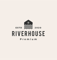 river house hipster vintage logo icon vector image