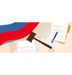 Russia law constitution legal judgment justice vector