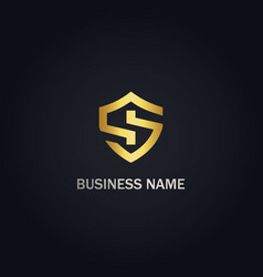s sign shield business logo vector image