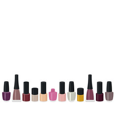 Set of a color nail polish vector