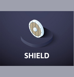 shield isometric icon isolated on color vector image