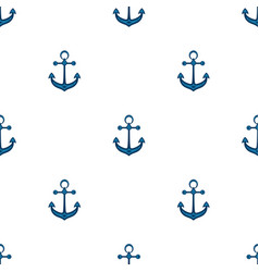 Ship anchor background in marine style vector