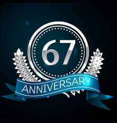 sixty seven years anniversary celebration design vector image