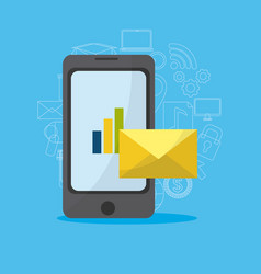 smartphone media marketing vector image