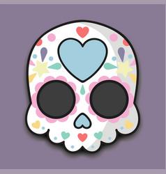 sugar skull halloween vector image